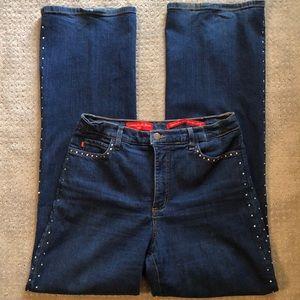 NYDJ Tummy Tuck Rhinestone Jeans - size 10
